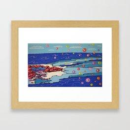 Sea Wind & Stones Framed Art Print