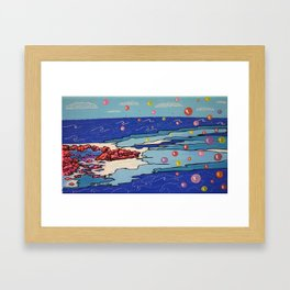 Sea Wind & Stones Framed Art Print
