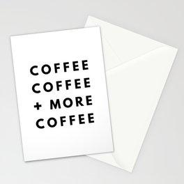 Coffee coffee + more coffee Stationery Cards