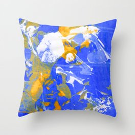 Psychedelic Abstract Screen Printing Throw Pillow