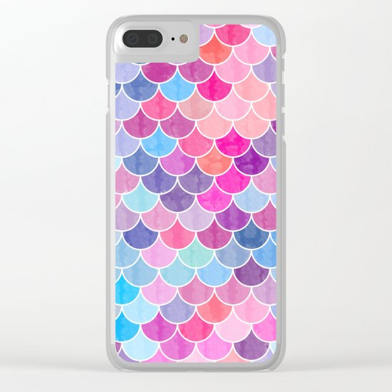 Watercolor Lovely Pattern VIV Clear iPhone Case