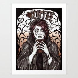 Troll Coffee Time Art Print