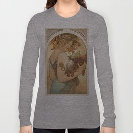 Vintage poster - Woman with fruit Long Sleeve T-shirt
