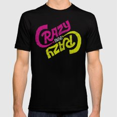 Crazy Knows Crazy Black Mens Fitted Tee SMALL