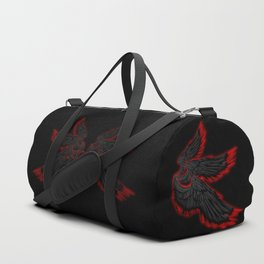 Archangel Lucifer with Wings Black Duffle Bag