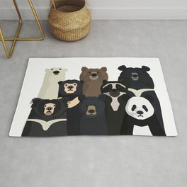 Bear family portrait Rug