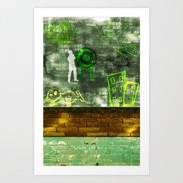 Street Art Digital 2.0 Art Print