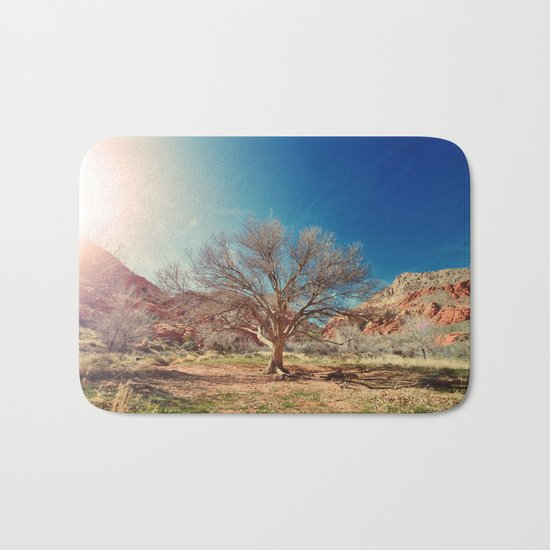 Sun desert tree Bath Mat