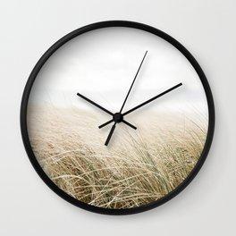Dune grass | Ireland travel photogragraphy print | At the beach Wall Clock