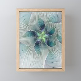 A Floral Fantasy, Abstract Fractal Art Framed Mini Art Print