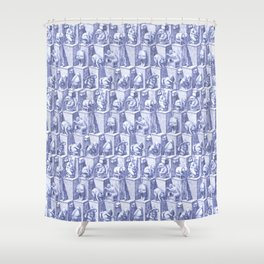 Elephants on toilets Shower Curtain