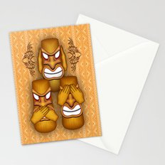 Don't See Don't Hear Don't Speak Totems Stationery Cards
