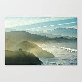 Foggy coastside Canvas Print