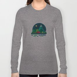Night camping in mountains Long Sleeve T-shirt