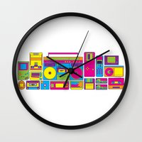 90s Wall Clocks featuring 90s by sknny