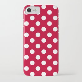 Red and Polka White Dots iPhone Case