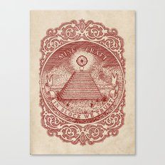 In Block We Trust (Red) Canvas Print