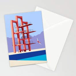 Soviet Modernism: Diving tower in Etchmiadzin, Armenia Stationery Cards