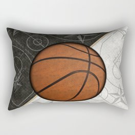 Basketball Stars and Court Team Sports Design Rectangular Pillow