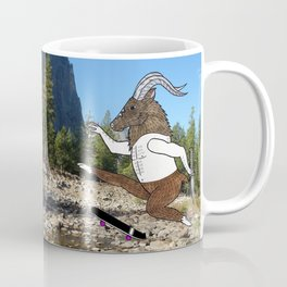 Baphomet's sixth failed attempt over a creek in Yosemite, which resulted in him focusing his board. Coffee Mug