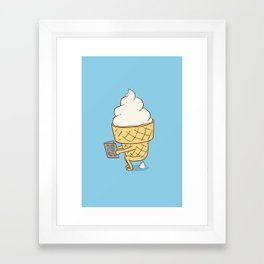 Everyone Poops (Blue) Framed Art Print