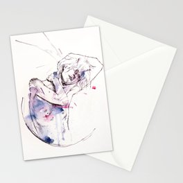 circles - con occhi porpora Stationery Cards