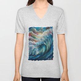 The Rainbow Wave Unisex V-Neck
