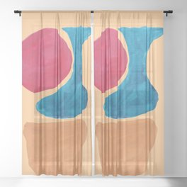 7  190330 Abstract Shapes Painting Sheer Curtain