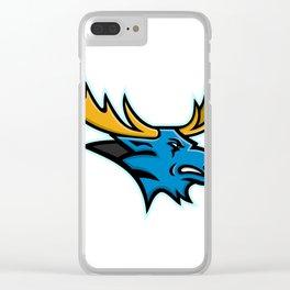 Bull Moose Head Mascot Clear iPhone Case