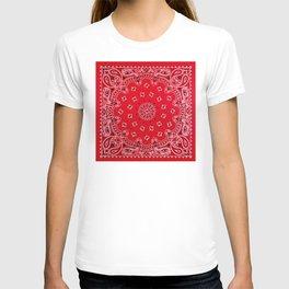 Paisley - Bandana Art - Red - Southwestern T-shirt