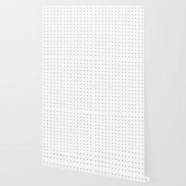 Black and white dot grid pattern Wallpaper