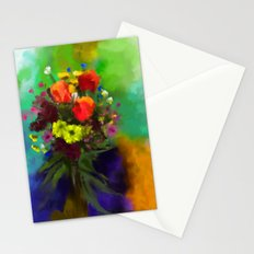Abstract bouquete Stationery Cards