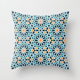 Tile of the Alhambra Throw Pillow