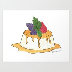 F is for Flan Art Print