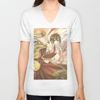 fairy tail V-neck T-shirts featuring fairy tail eclaire by 6alba