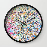 confetti Wall Clocks featuring Confetti by FRAXTURED