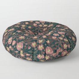 Moody helleborus | blush brown Floor Pillow