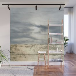 landscape 001: telegraph sky over white woods Wall Mural