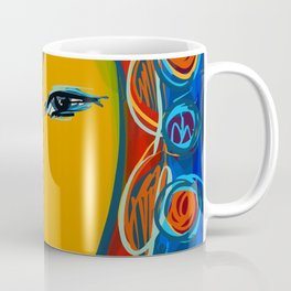 In the light of the night Portrait Expressionist Fauvist Coffee Mug