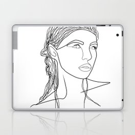 Line Art Woman Laptop & iPad Skin