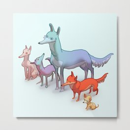 PrettyDogs Metal Print