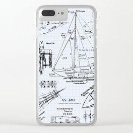 S H I P S Clear iPhone Case