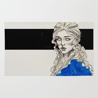 mother of dragons Area & Throw Rugs featuring Mother Of Dragons by Fatma Sahem