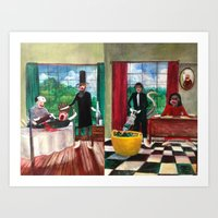 Health Care then and Now Art Print