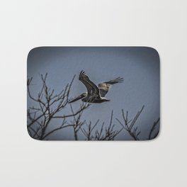 Pelican Breezing Thru The Trees Bath Mat