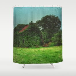 house with ghosts  Shower Curtain