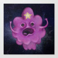 lumpy space princess Canvas Prints featuring The Princess of Lumpy Space by Kristin Frenzel