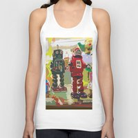 robots Tank Tops featuring Robots by Five Ate Five Studios