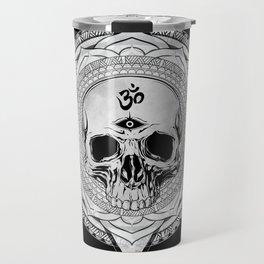 Life Touches The Seeker Ajna Skull Mandala Geometric Triangle Black Travel Mug
