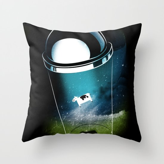 Encounters of the Dairy Kind Throw Pillow
